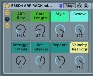 ARPEGGIATOR STYLES - Classic sound for fast repeating cascades of notes, with a few surprises that only Ableton does.