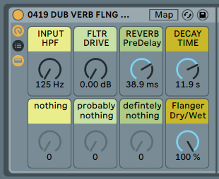 DUB REVERB FLANGER - FX rack. Giant reverb blossoms here and there [.adg 8kb]