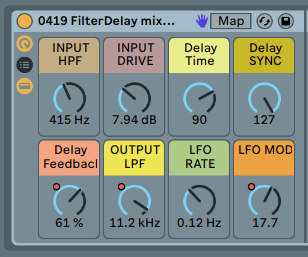 LFO + FILTER DELAY - FX rack. Take your tracks to space space space space space [.adg 6kb]