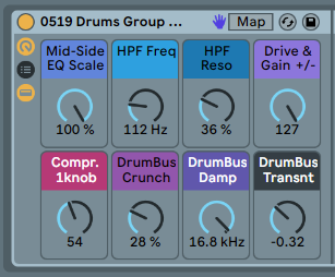 STEREO DRUMS BUS GROUP FX - FX rack. Drums need different treatment from synths [.adg 7kb]