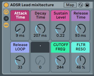 ADSR LEAD SYNTH - Uses Analog Instrument and makes really cool pulsing rhythms [.adg 8kb]