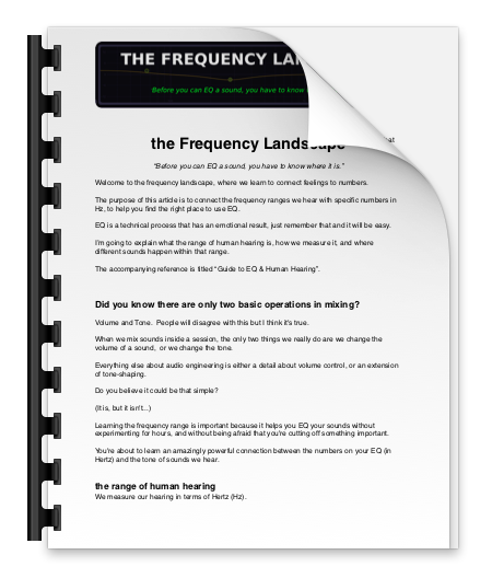 Frequency Landscape II - Learn the words you need to know about EQ, human hearing and the space we work with in audio engineering.