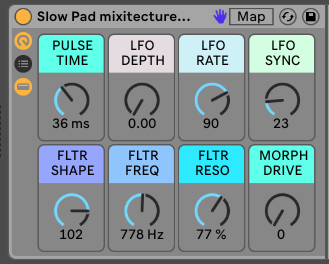 SLOW PAD SYNTH - Atmospheric Sweeping Synth Instrument for Live9 / Live10 [.adg 10kb]