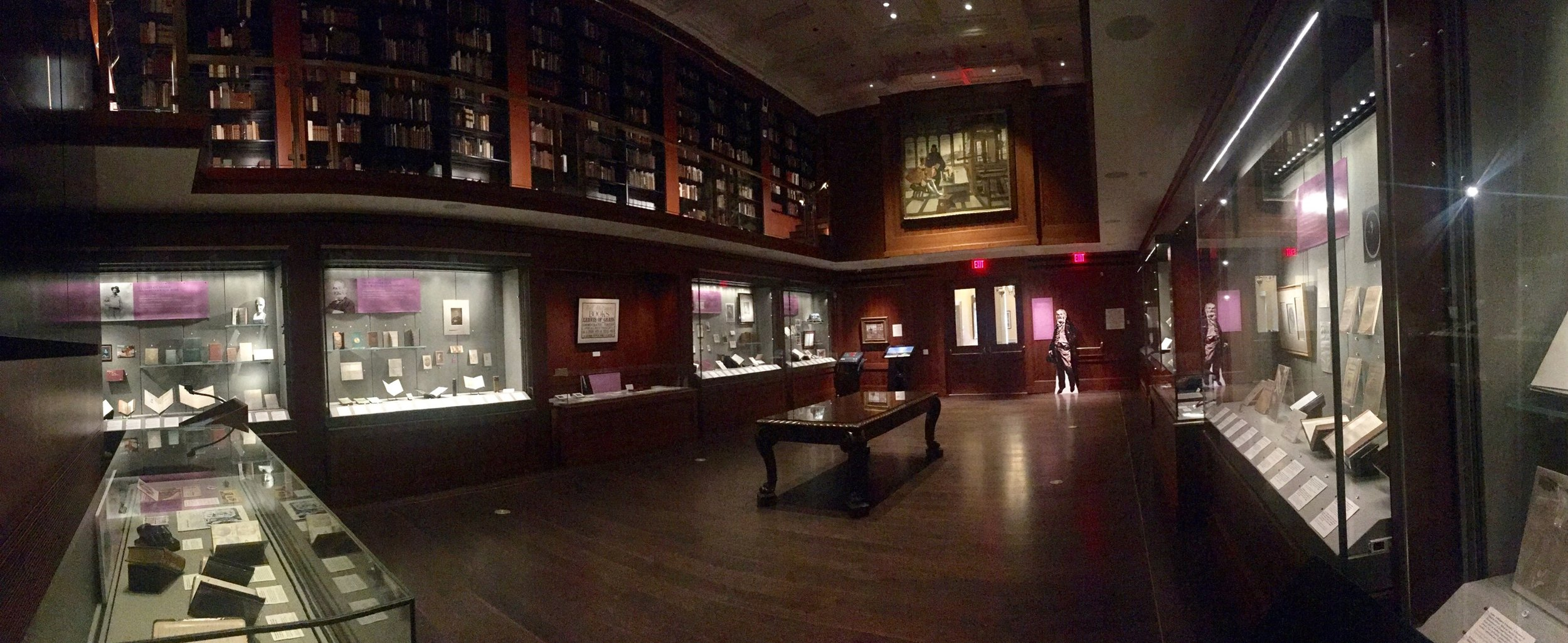 The Grolier Club's exhibition room in New York