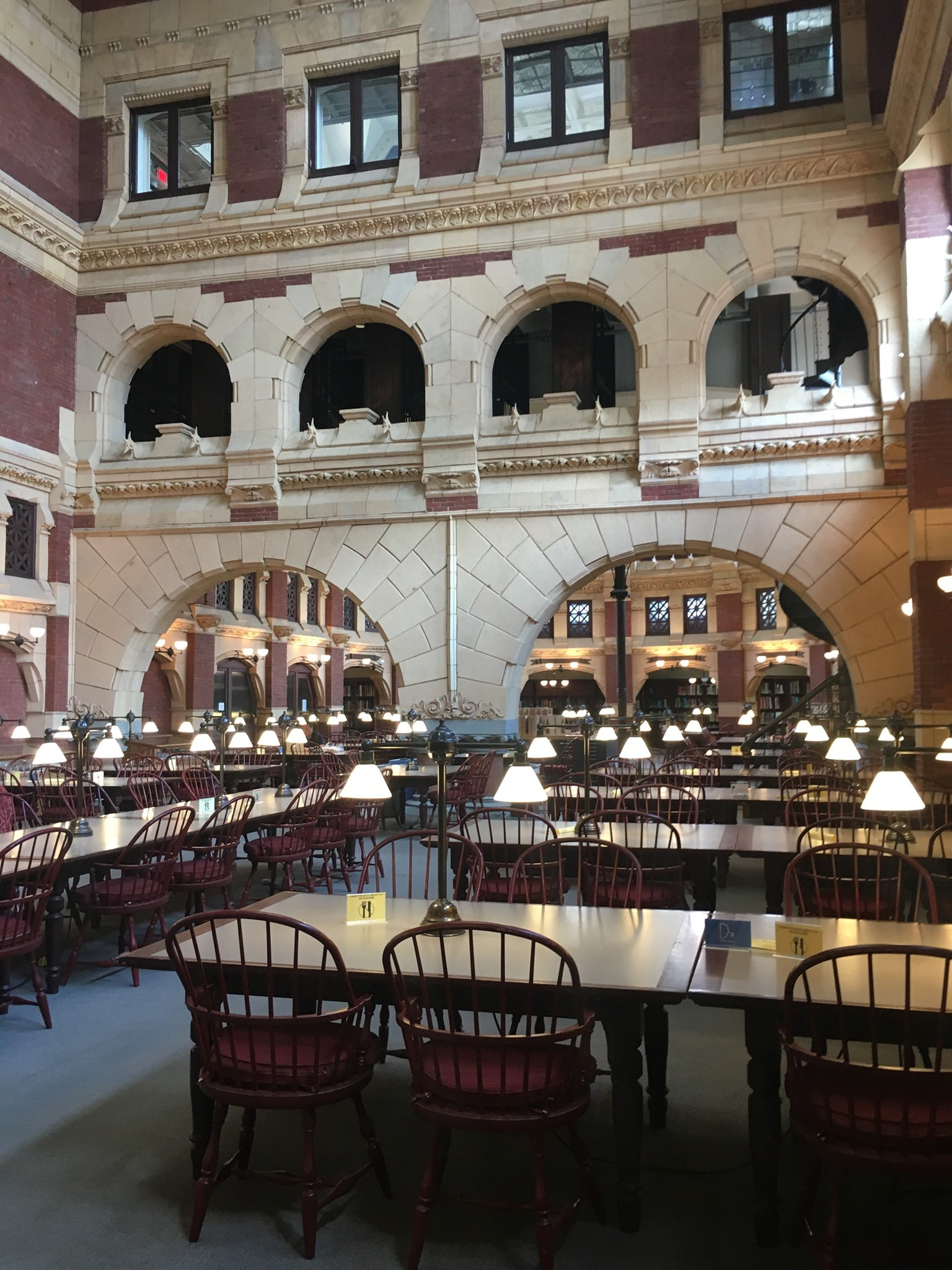 Interior of the Fisher Fine Arts Library at the University of Pennsylvania in Philadelphia