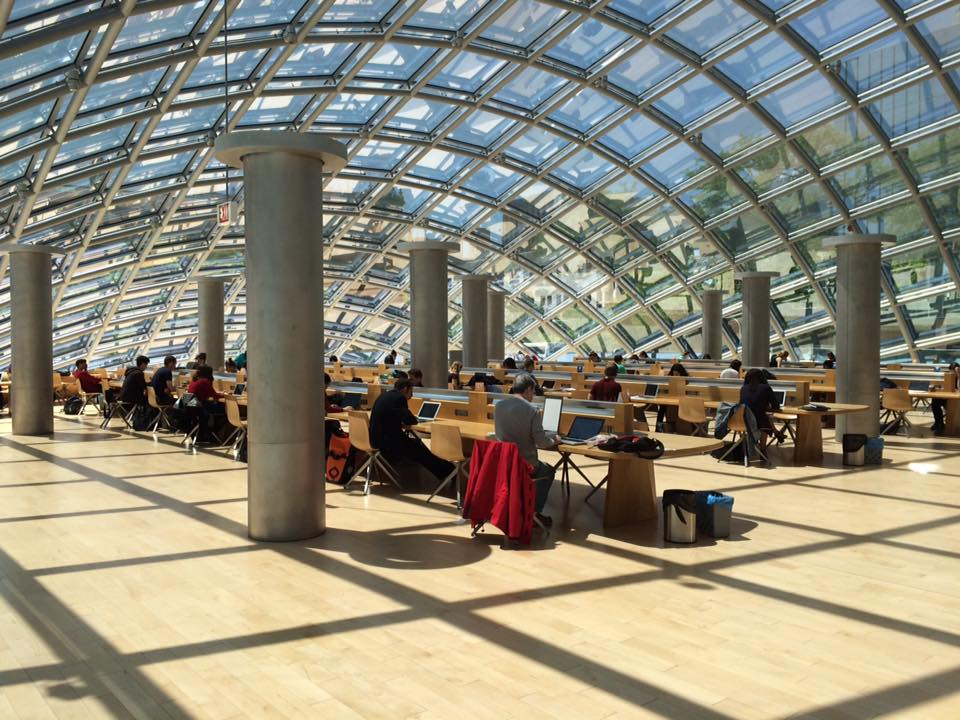 Interior of the Mansueto Library at the University of Chicago