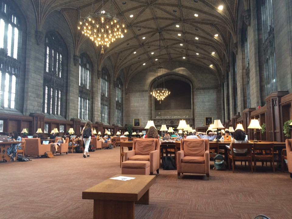 Interior of the Harper Memorial Library at the University of Chicago