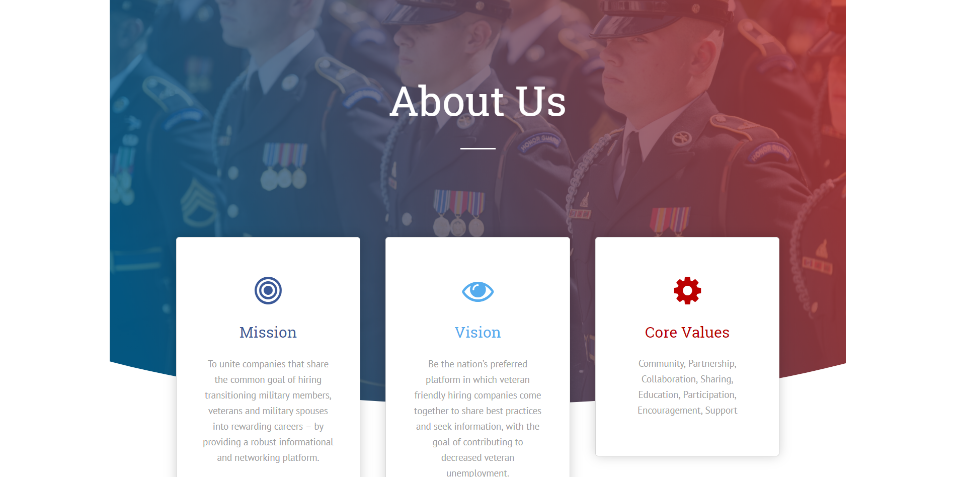 Hire Heroes USA - Website Concept