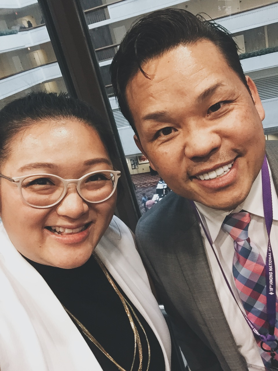 Stuck in the elevator with Hmong Comedian, Tou Ger Bennett-Xiong