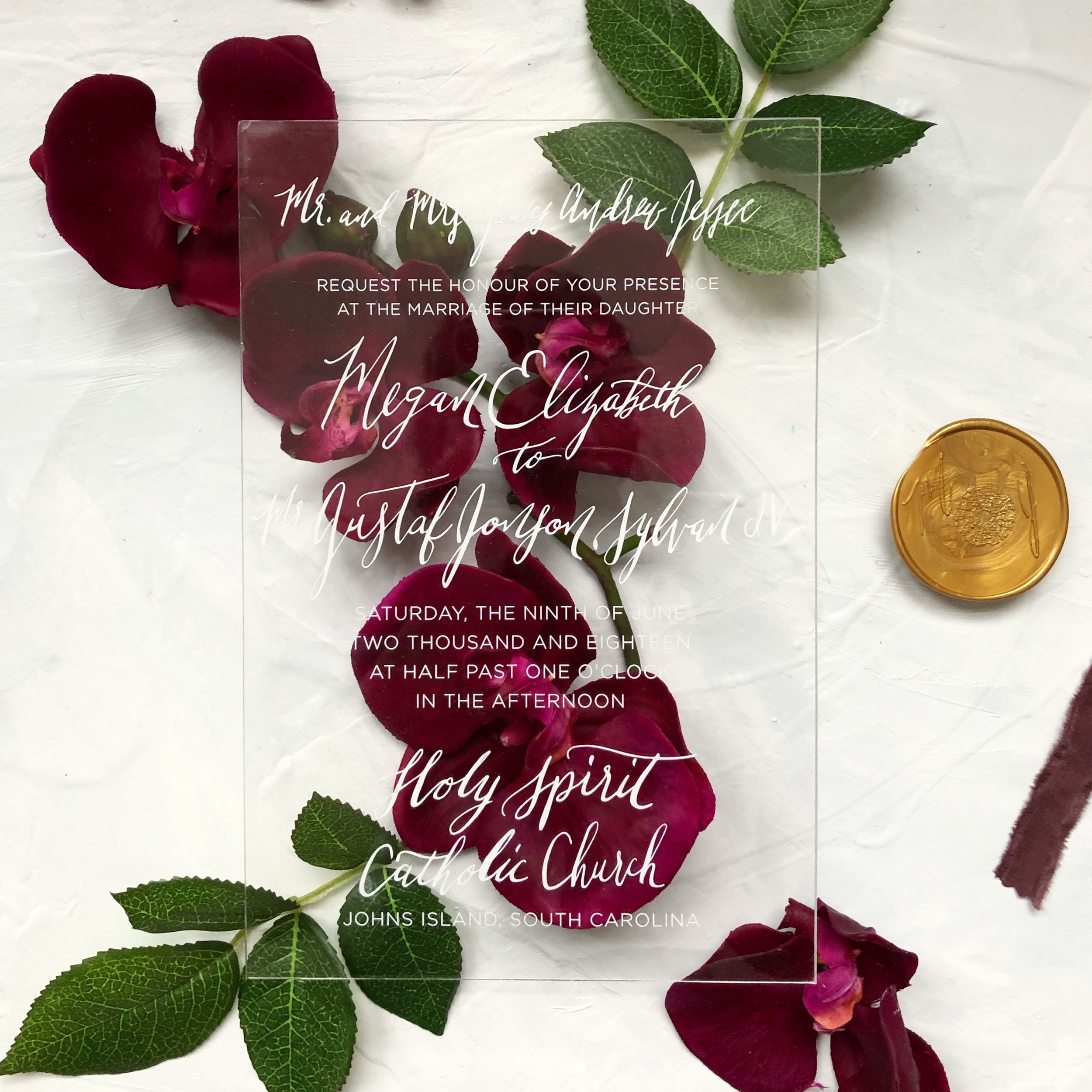 Modern Acrylic Wedding Invitation
