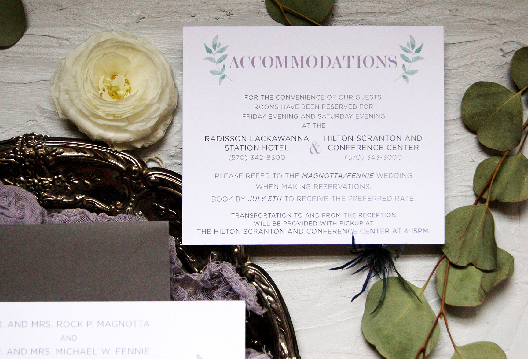 Wedding Accommodations Card | Wedding Invitation | Custom Wedding Invitations | Wedding Stationery | Wedding Invitation Suite