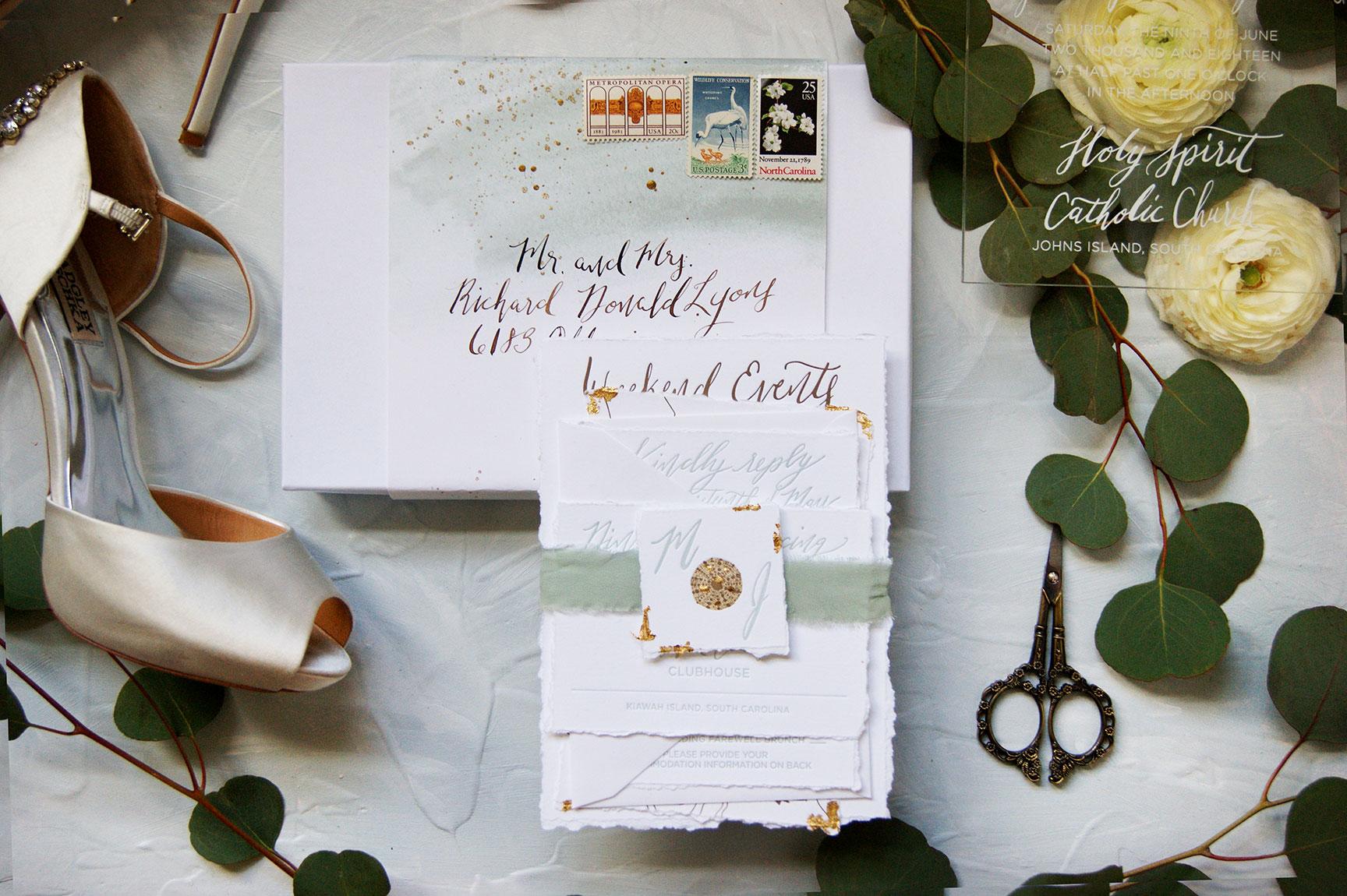 Kiawah Island Boxed Wedding Invitation