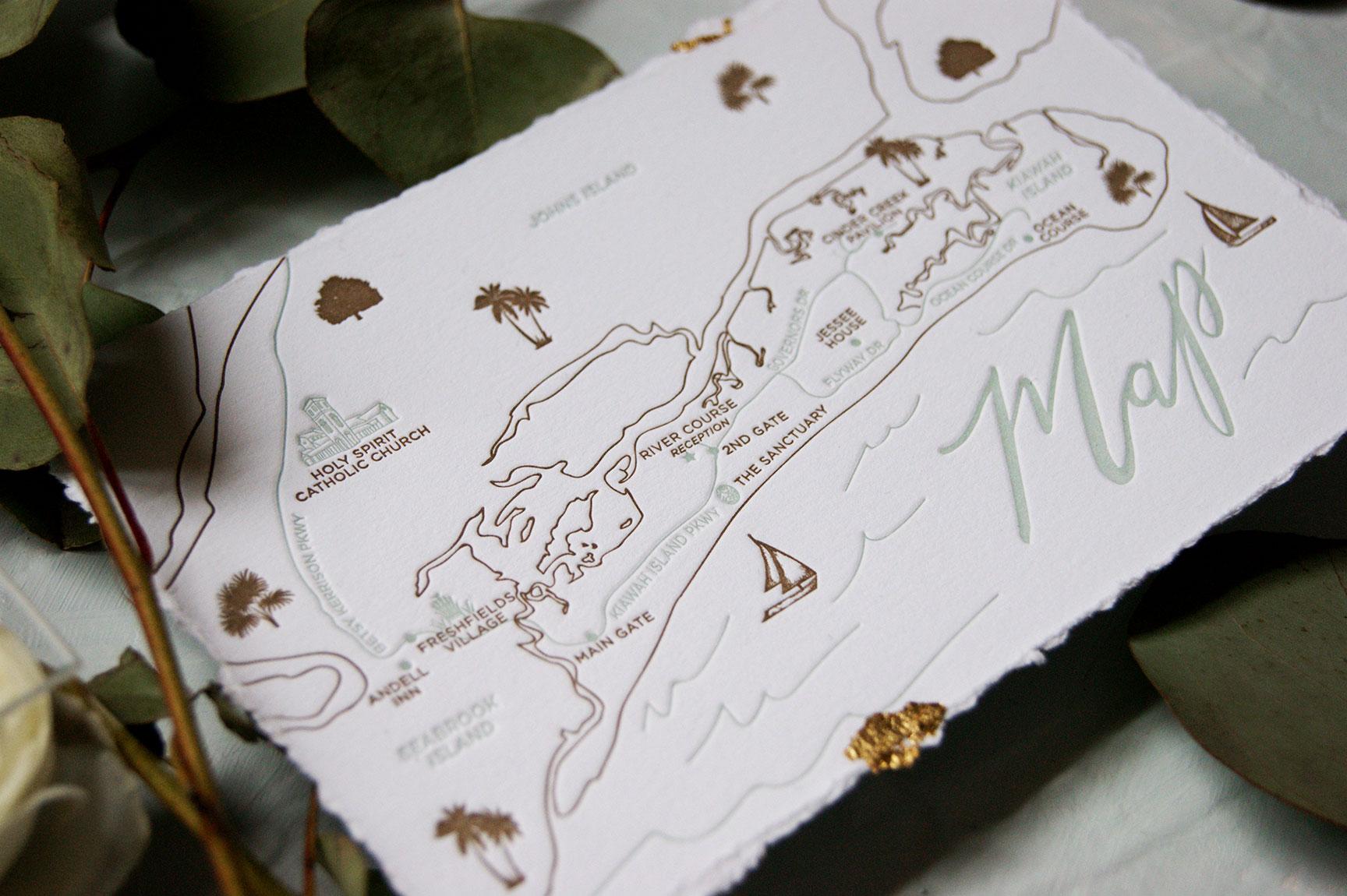 Kiawah Island Wedding Map