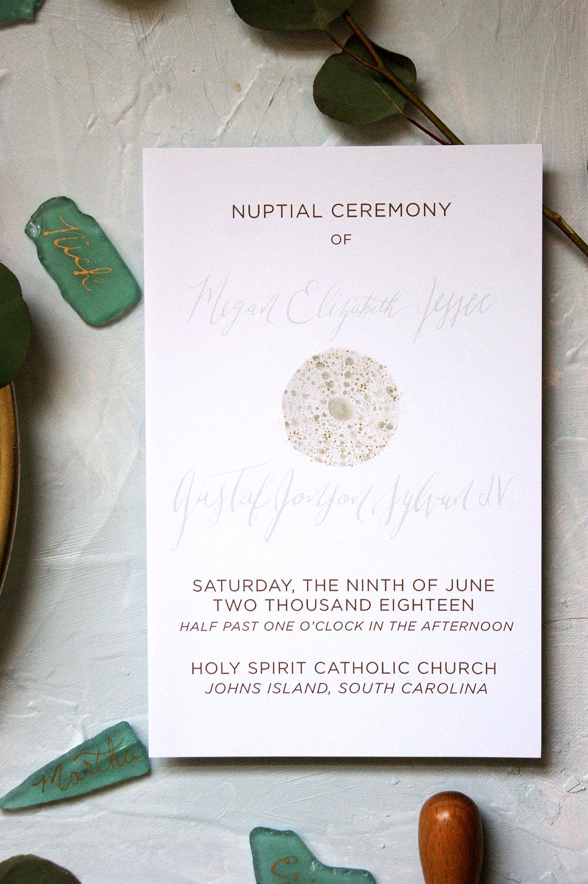 Kiawah Island Wedding Ceremony Program