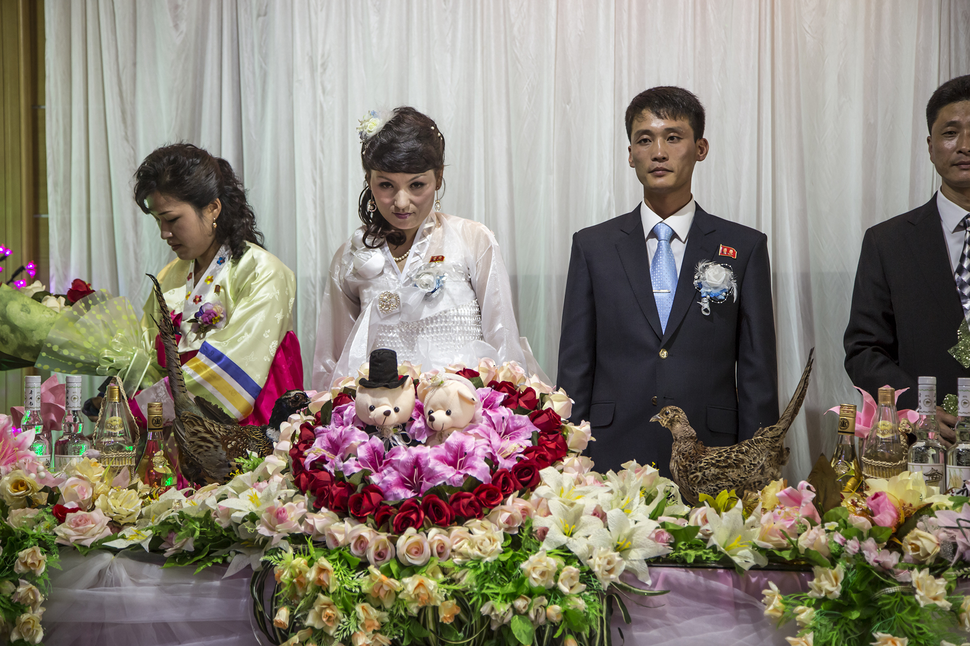 "Crashing a North Korean Wedding. Note the ""stink eye"" from the bride."