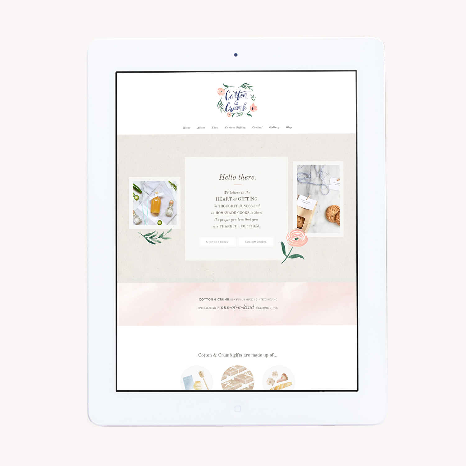 Cotton & Crumb    - Website & Illustrations -