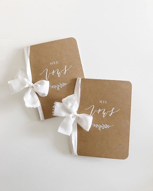 currently loving this combo: kraft books pressed with white foil & tied with silk ribbon