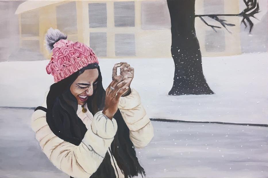 Self Portrait: Oil on canvas (2016)