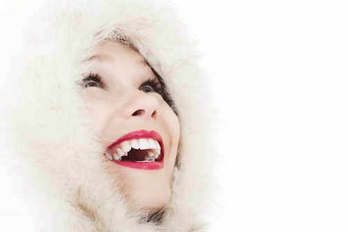 Woman Smiling Showing palate