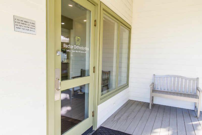 Rector Orthodontics front door, Bozeman, MT