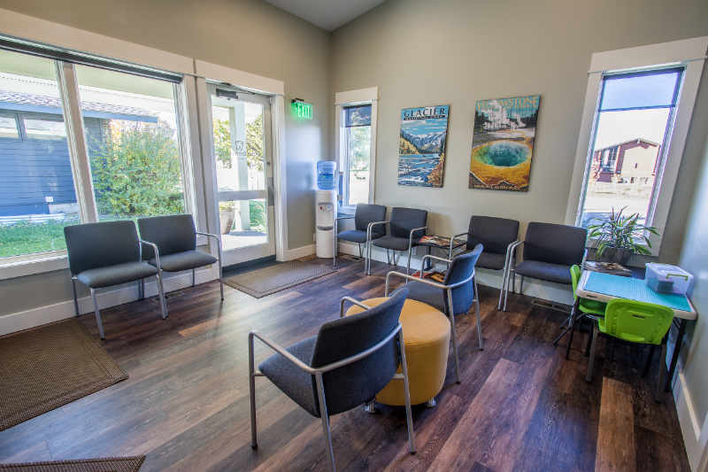 Waiting room view of orthodontic office, Bozeman, MT 59715