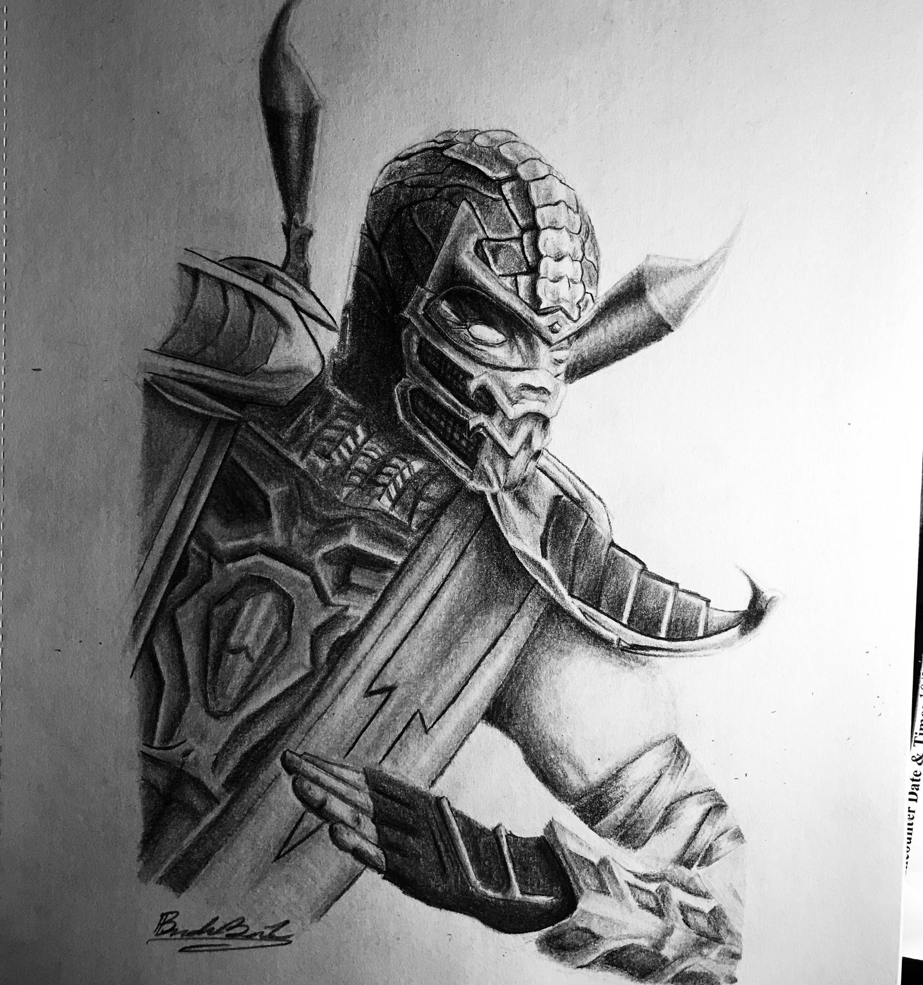 Draw Scorpion Mortal Kombat Brandon Brown Jr