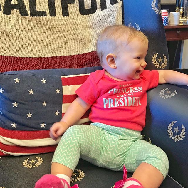 My 6-month old daughter in the office of Rep. @jackiespeier last Wednesday. My 7-year old asked while we were visiting why all the presidents had to be boys, and I told her they didn't have to be. I said we almost elected a female president recently, and I told her that I thought she would see it happen in her lifetime and that maybe she or one of her two sisters would be the one. #rolemodels #girlpower #fatherofdaughters #fatherhood #feminism #equality #America #usa #california #houseofrepresentatives #westcoastdadcollective #nofilters