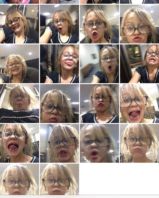 When you leave your phone lying around. You find selfies.
