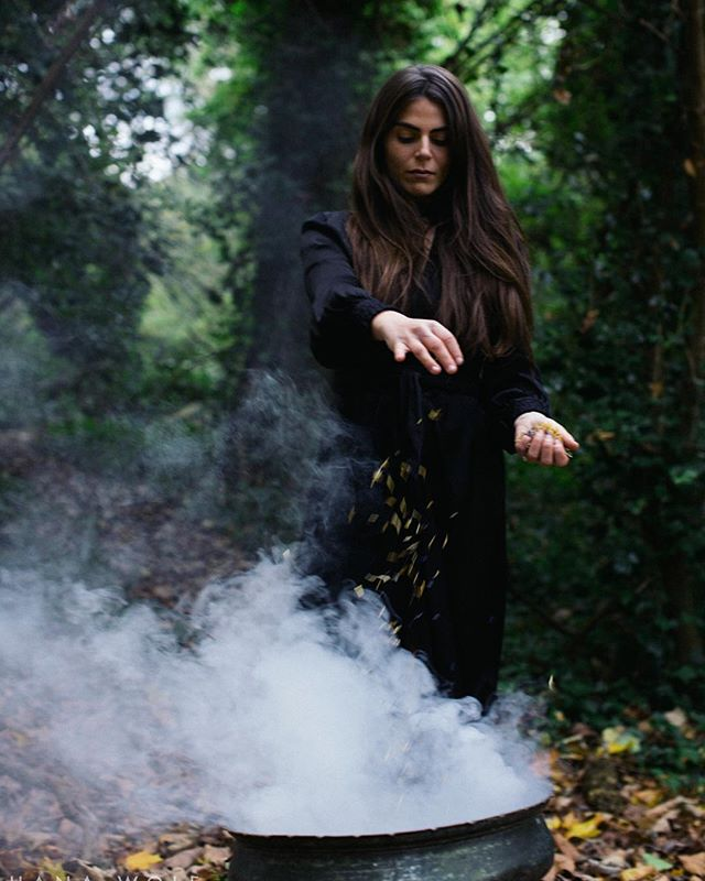 All Hallows Eve. It is time. I summon you. Let me move through Mist & Smoke To the realm beyond. Where my ancestors lie. To where I may meet my guides.  To hear the spirits cry. The veils are thinning. It is time. . . A storytelling collaboration X @thegoddessspace X @hanawolf.photography . .  #wakethewitches #allhallowseve #halloween #witches #witch #pagan #wicca #witchcraft #spellwork #powerofthewitch #wakethewitch #awakethewitch #awakethewitches #goddessrising #sacredfeminine #divinefeminine #sacredfeminineenergy #magical #spiritual #magicisreal #believeinmagic #witchesofinstagram #wiccan #witchstagram #wewomen #castspells #makemagic #summonspirits #creativeportraiture #spiritguides