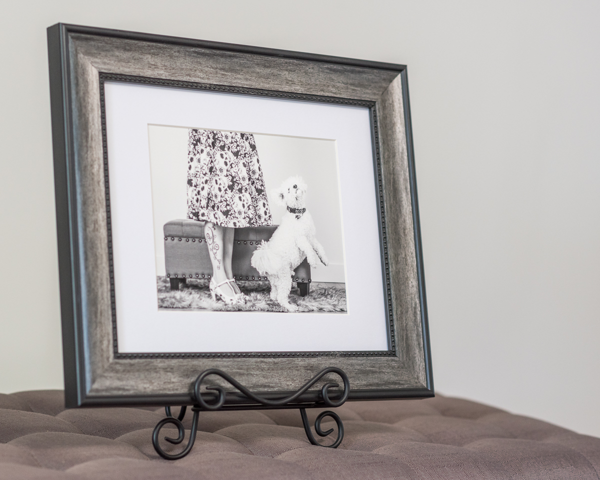 Adding a custom frame makes this matted fine art print really stand out!