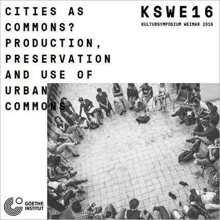 2016.06.03    Cities as Commons?    Conversatorio_Debate  Kultursymposium Weimar 2016  Weimar, Alemania