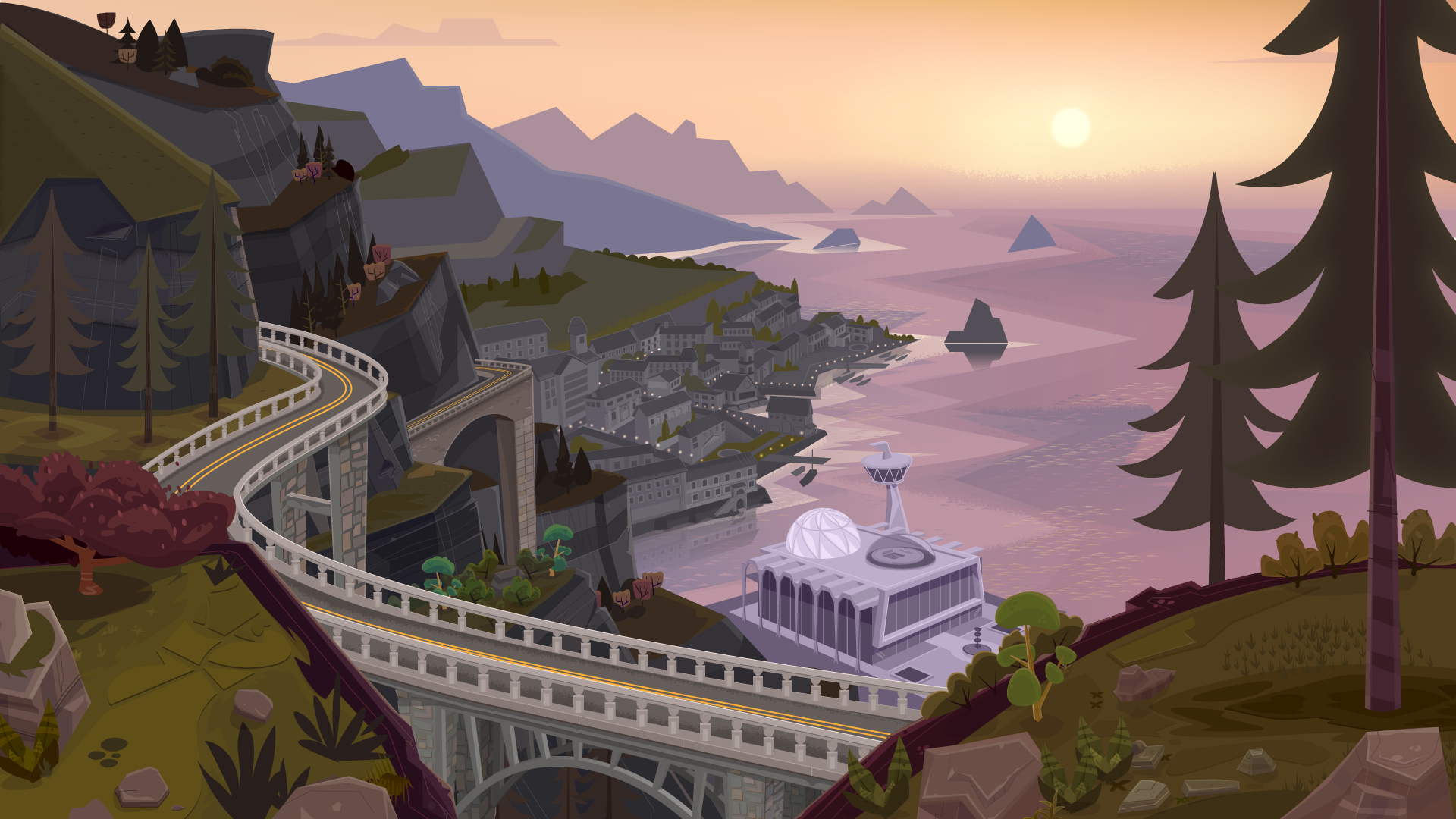 TINY OCEANS: THE INSTITUTE Visual Development & Environment Design for Various Game and Illustration Use Adobe Illustrator / Photoshop
