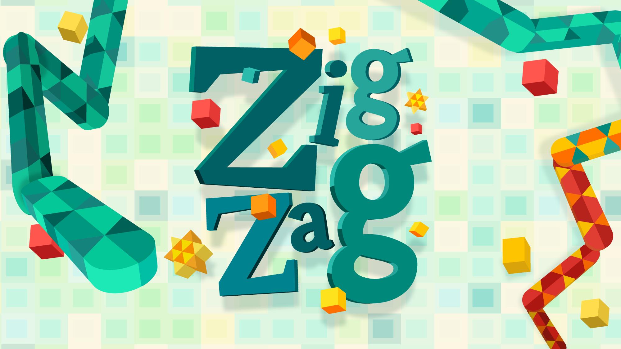 ZIG ZAG App Store Banner Screen