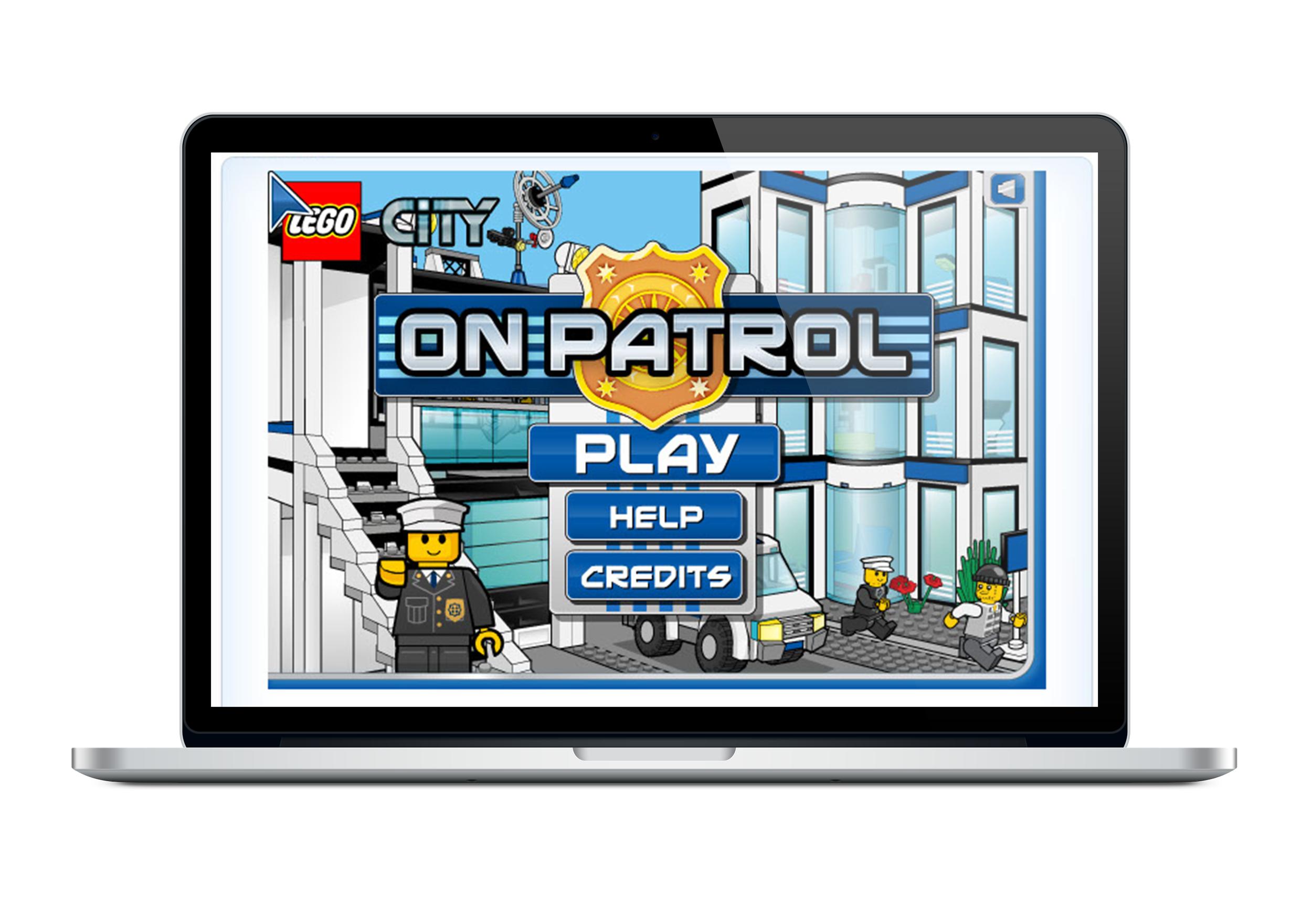 LEGO CITY ON PATROL Home Screen