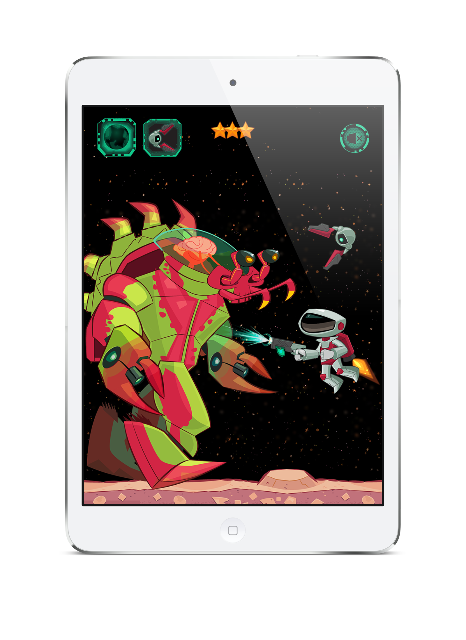 SPACE RANGERS: JET PACK Tablet Game Screen