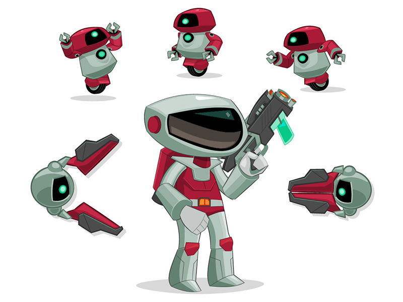 SPACE RANGERS: JET PACK Character and Prop Design
