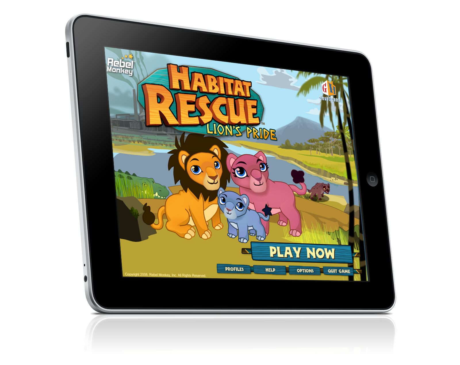 HABITAT RESCUE LION'S PRIDE Home Screen Tablet View