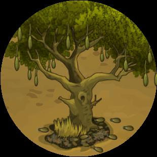 HABITAT RESCUE LION'S PRIDE tree illustration