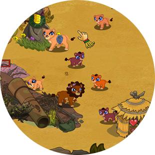 HABITAT RESCUE LION'S PRIDE game play screen