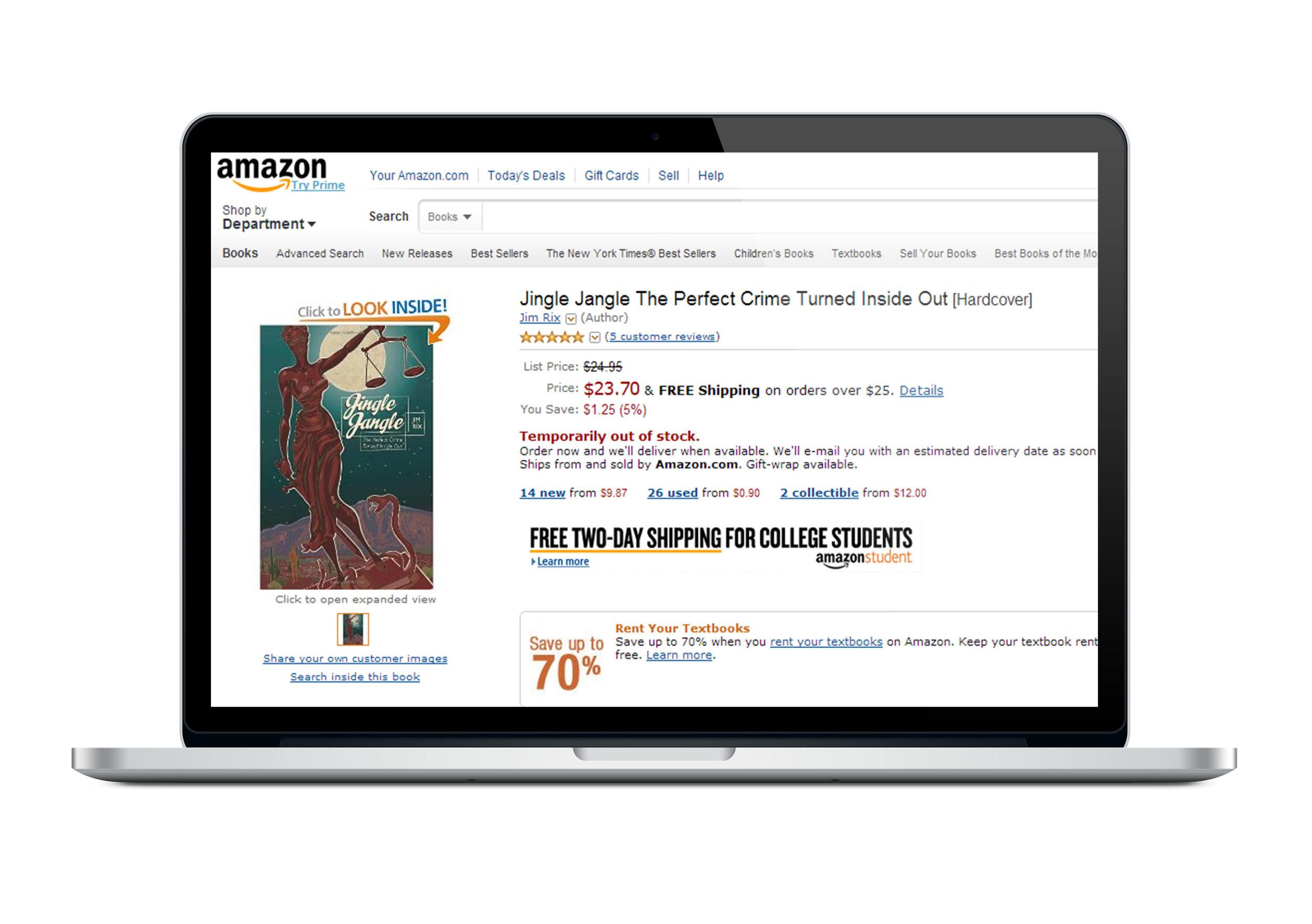 JINGLE JANGLE BY JIM RIX available on Amazon
