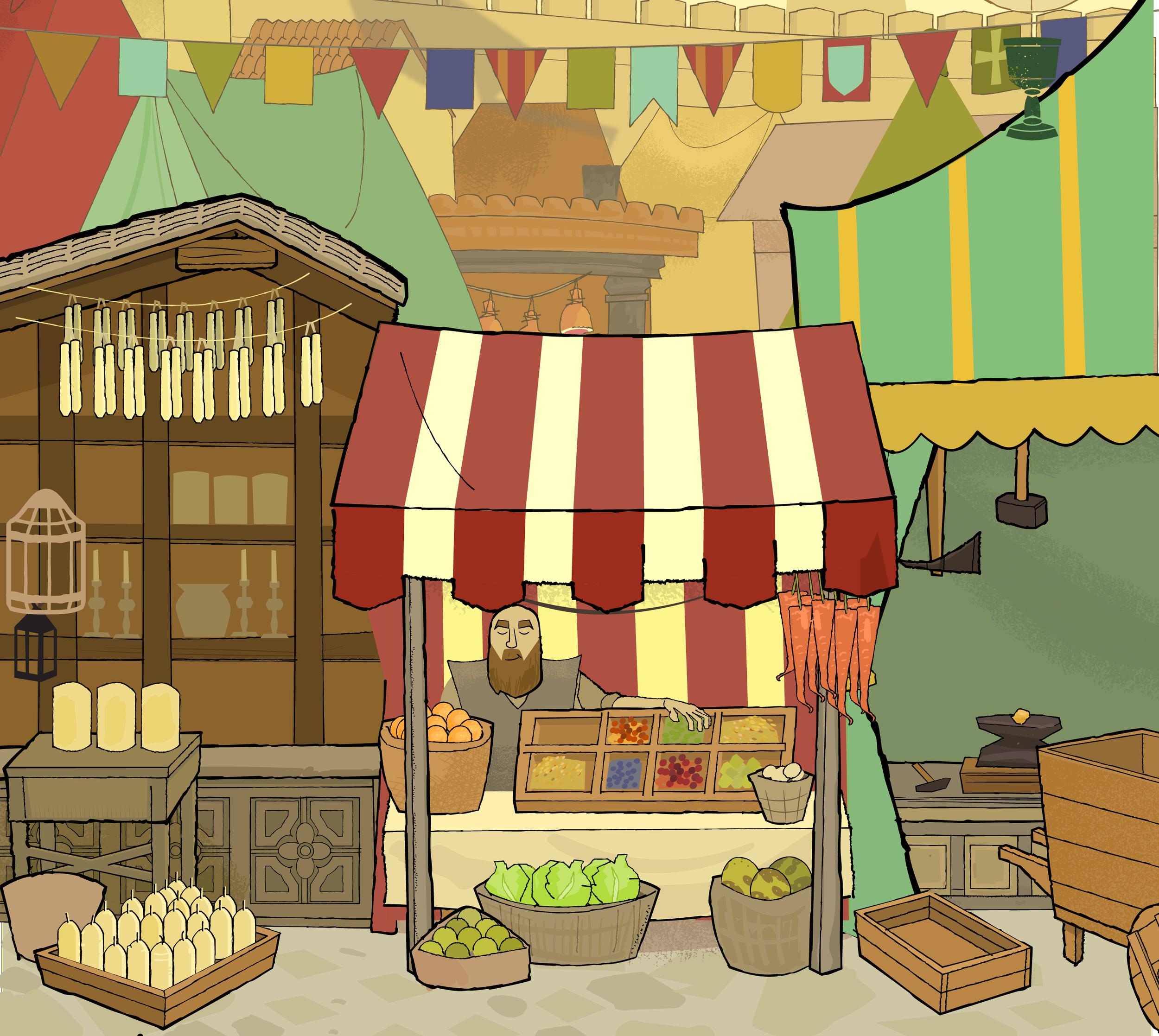CROWN OF ARAGON Market Card Illustration Detail