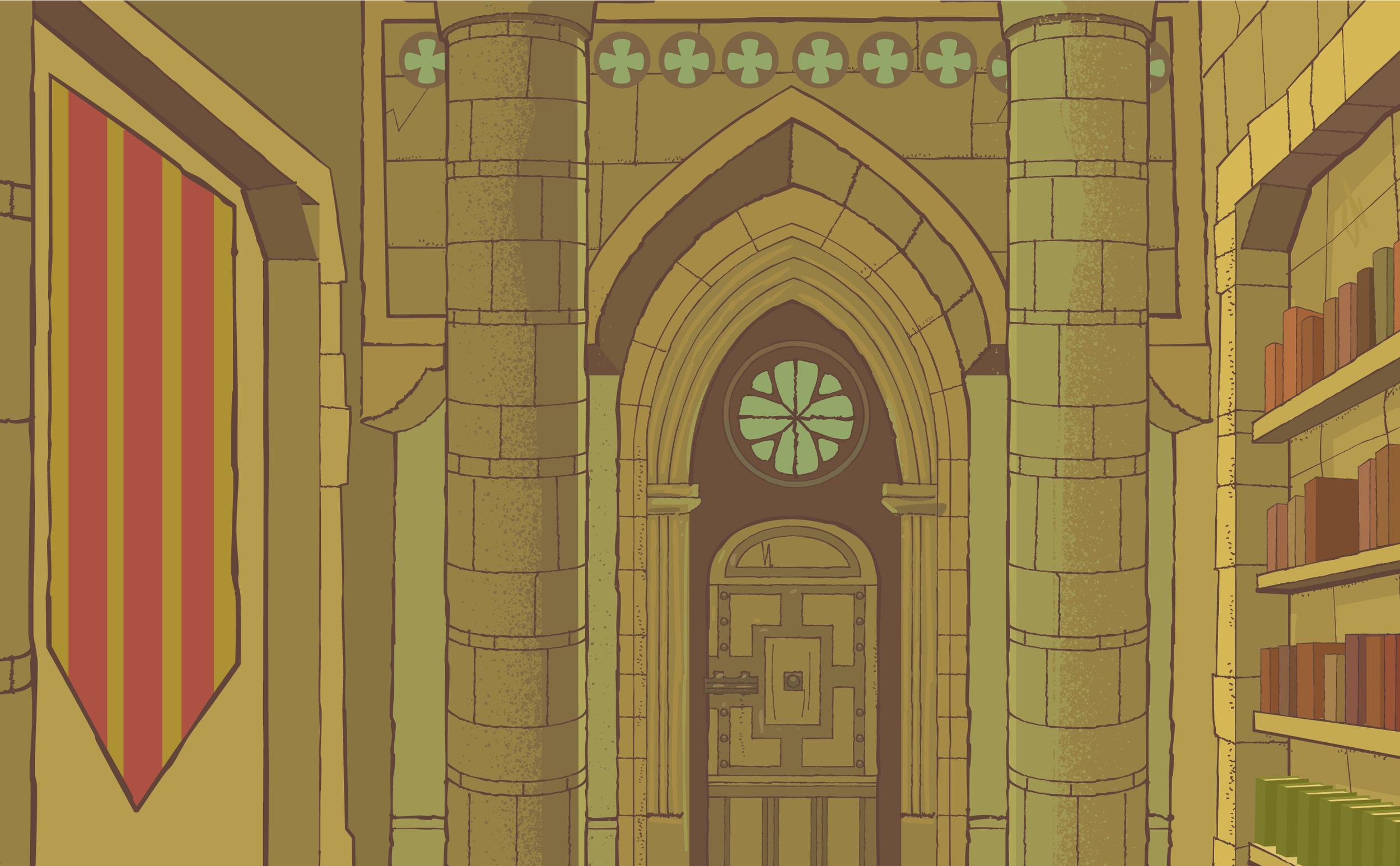 CROWN OF ARAGON Background Illustration Detail