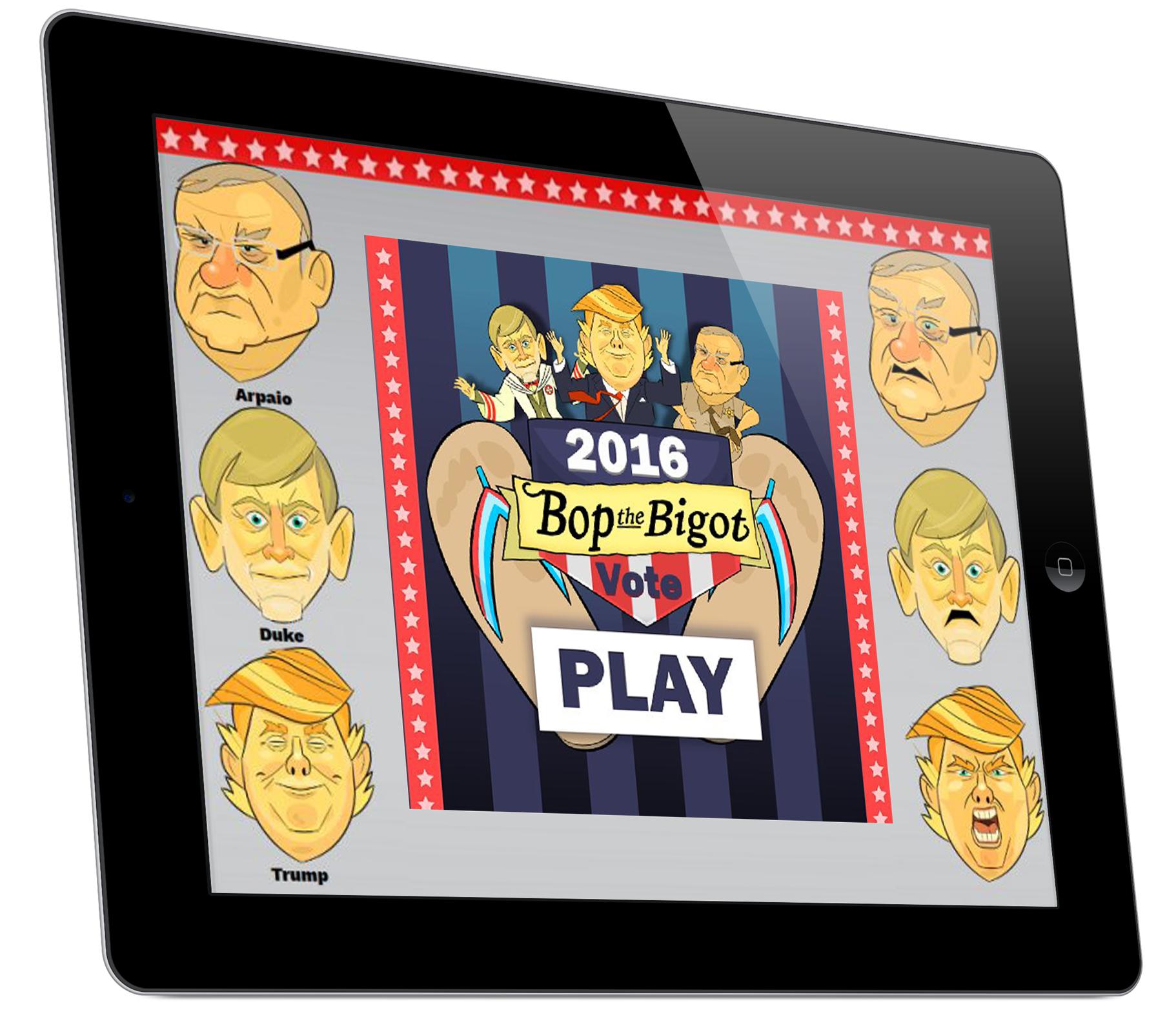 BOP THE BIGOT Home Screen Tablet View