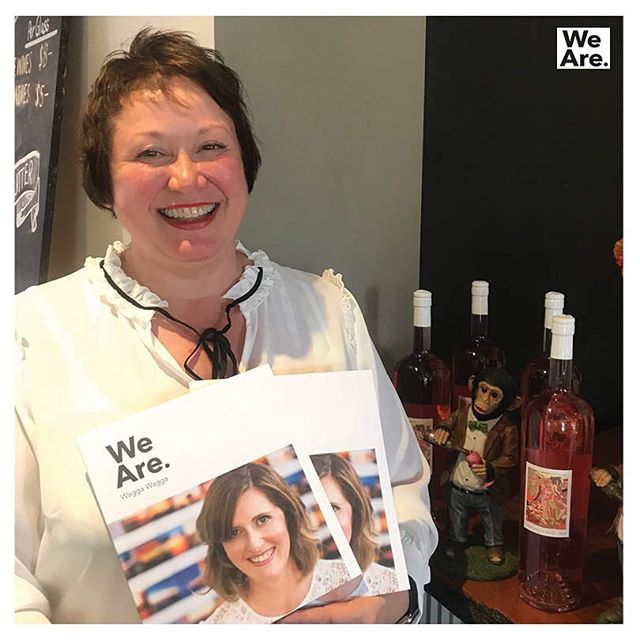 No wonder Dj Pieroway is smiling – she gets to work at CSU Wines AND read 'We Are. Wagga Wagga'. If you're out on campus or visiting the Cellar Door this Easter, don't forget to grab your copy. #cellardoor #newmagazine #outnow #regionalnsw #storytelling #wearewagga #waggawagga