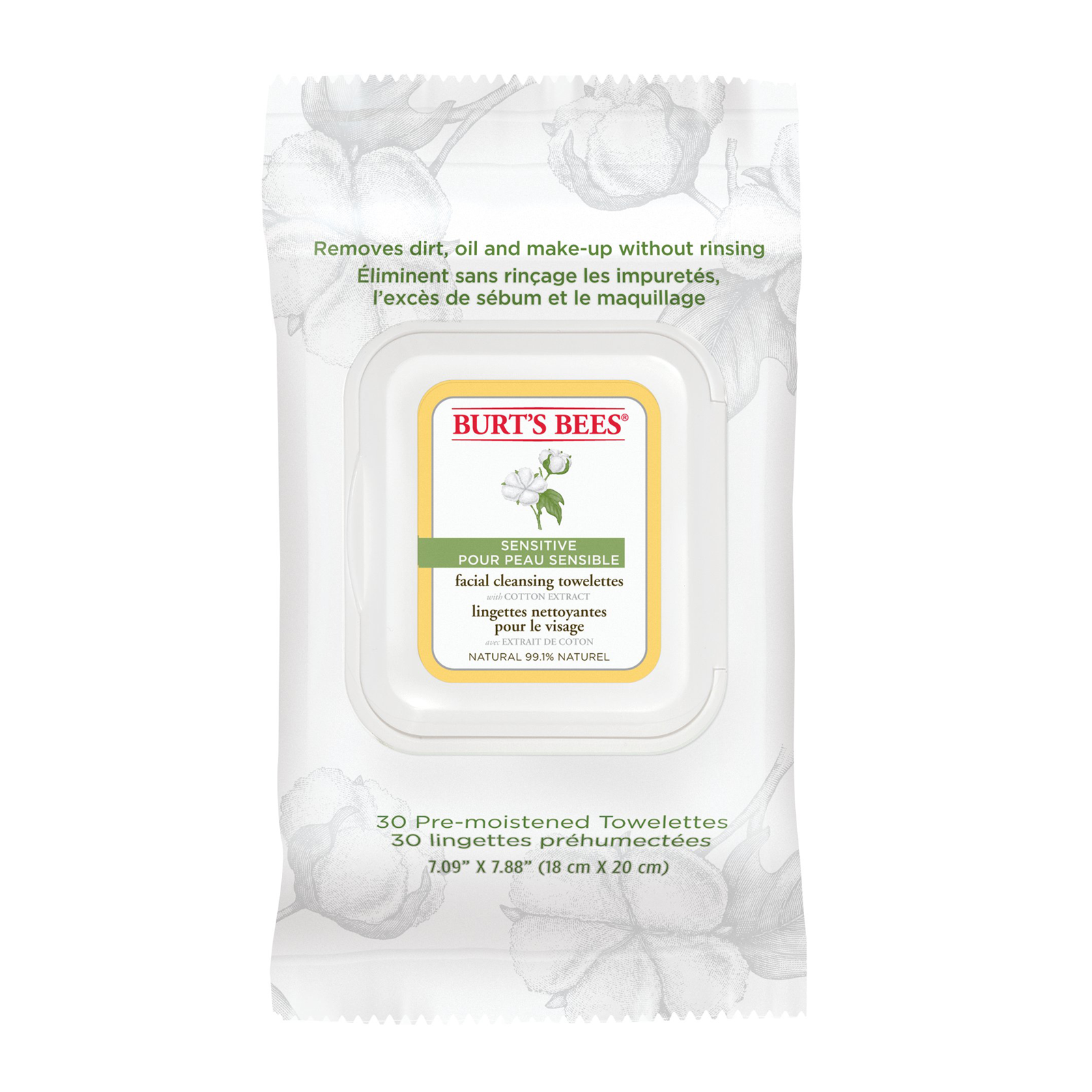 Burt's Bees Cleansing Towelettes $6