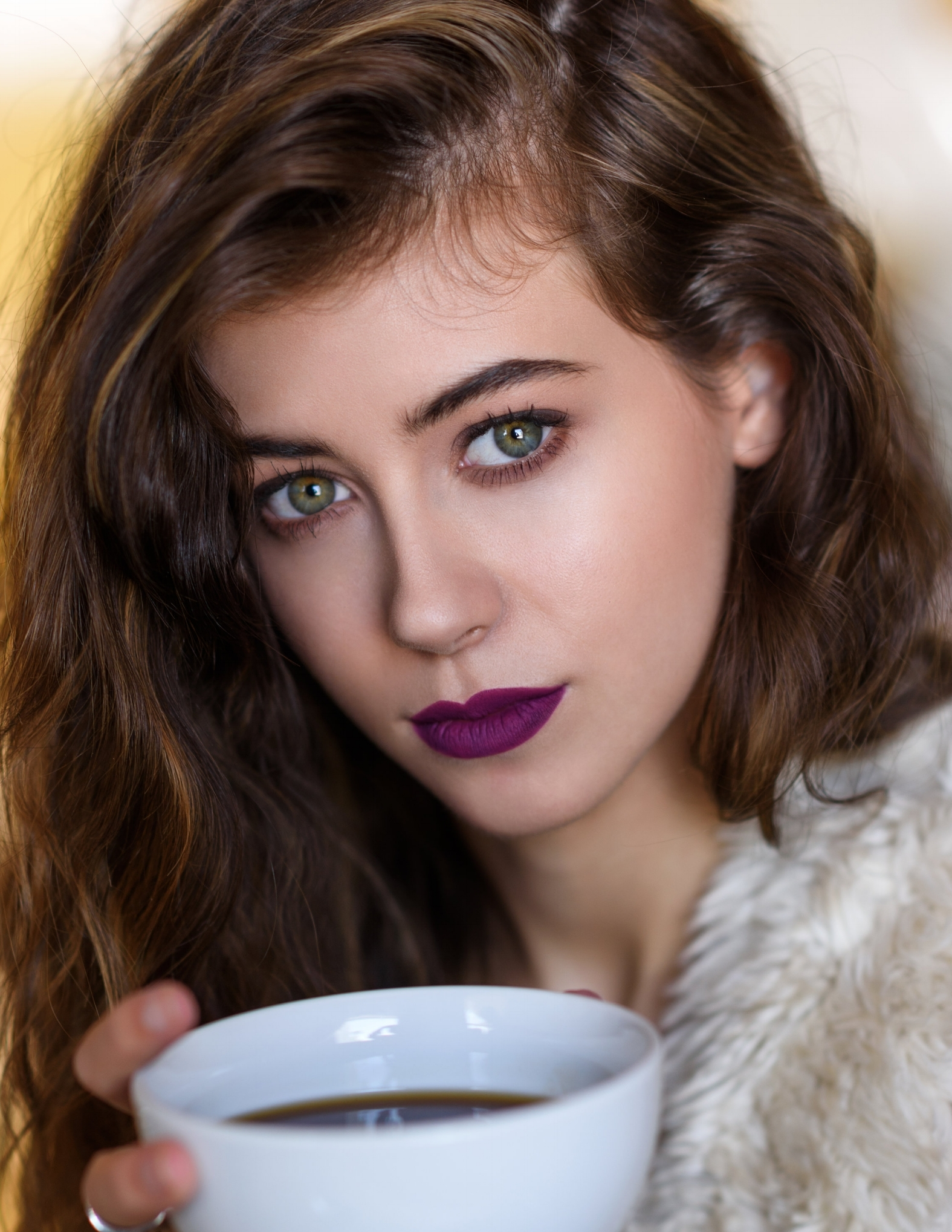 Put your pout front and center with a deep, dark, bold lip. Anywhere from a dense, moody berry to a profound purple, this lip is dark! Balance the statement lip with a soft brow and subtle eye.