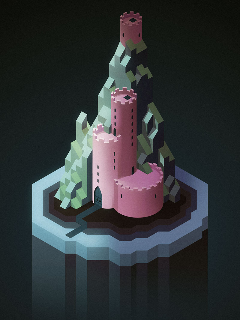 A new isometric castle. Now with more roundedness!