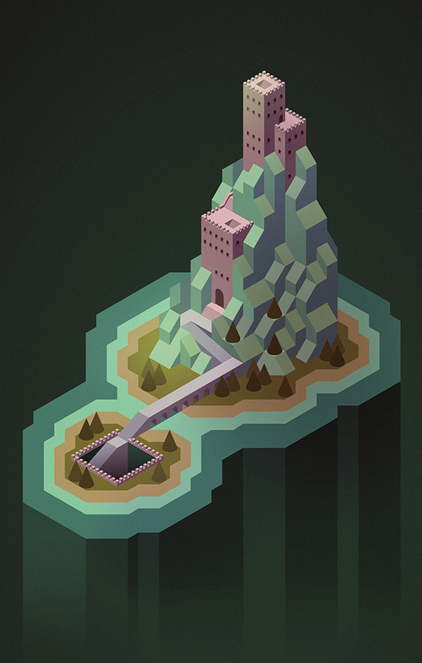 Another isometric mountain castle thing.