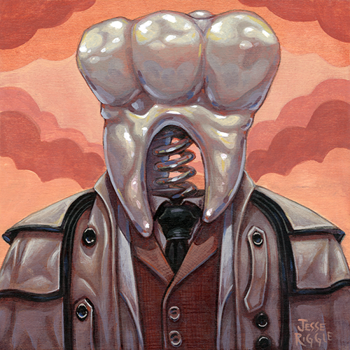Here is my submission for the Quentin vs. Coen show at  Spoke Art  in San Francisco.   I've been known to paint a lot of little teeth, so I thought it would be nice to paint one giant tooth instead.