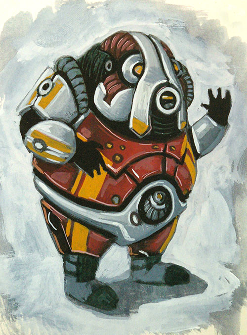The Mass Effect fan art continues.  This time a Volus, funny little guys